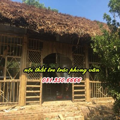 Ốp trúc trang trí nhà hàng Xuân Mai