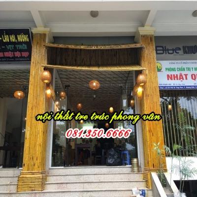 Ốp trúc trang trí nhà hàng HÀ THÀNH