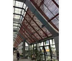 Thi công mành tre tại Fitness Garden tòa nhà Huy Hoàng- Nguyễn Trãi