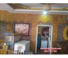 Ốp trúc trang trí quán cafe